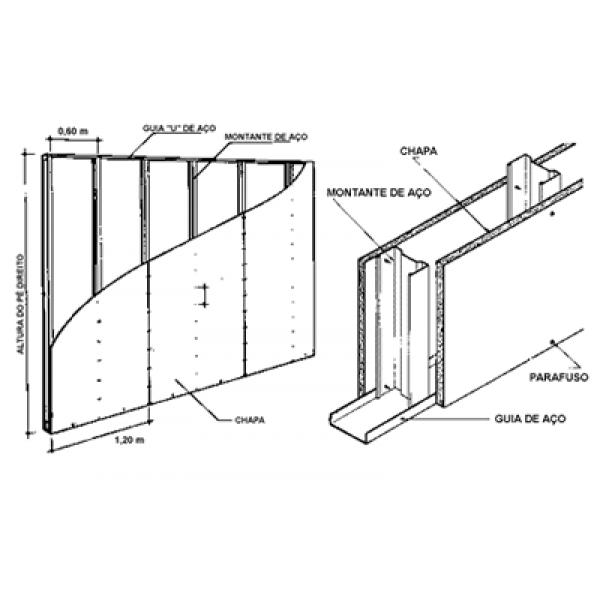 Valor de Divisória de Drywall no Jardim Ibéria - Divisória de Drywall em SP